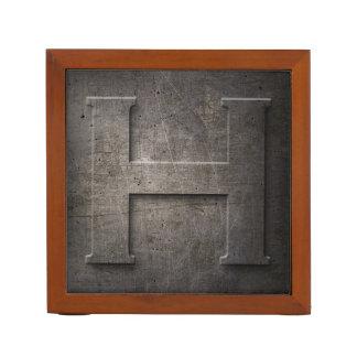 金属のモノグラムH -机のオルガナイザー ペンスタンド