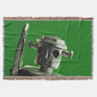 金属のロボット毛布の投球-緑 スローブランケット