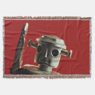 金属のロボット毛布の投球-赤 スローブランケット
