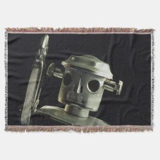 金属のロボット毛布の投球-黒 スローブランケット