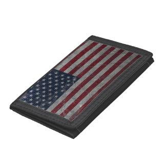 金属のヴィンテージグランジな米国の旗