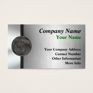 金属の世界企業カード 名刺