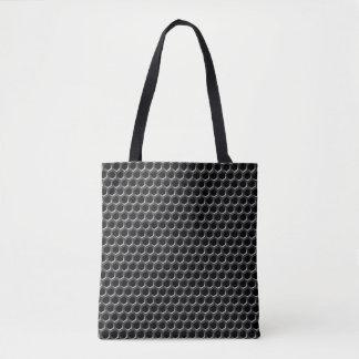 金属の格子図形-背景 トートバッグ