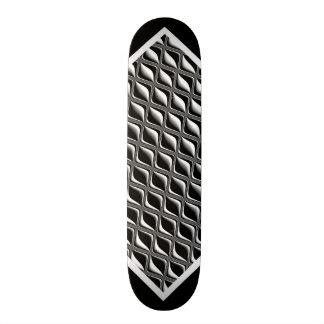 金属の目の黒の錯覚のカスタマイズ可能なデッキw2 カスタムスケートボード