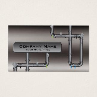 金属の管のデザインの鉛管工のプロフィールカード 名刺