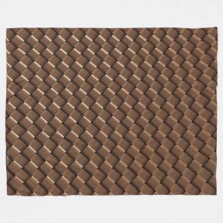 金属の織り方のフリースブランケットの青銅 フリースブランケット