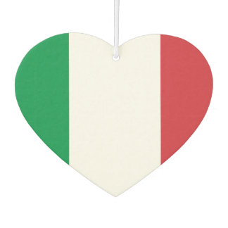 金属の背景のイタリア語の旗 カーエアーフレッシュナー