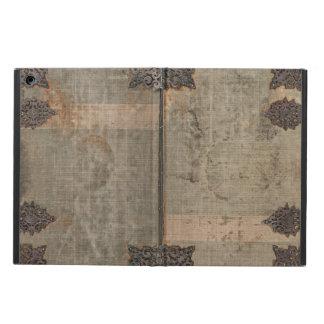 金属の蝶番が付いている旧式なヴィンテージの表紙 iPad AIRケース