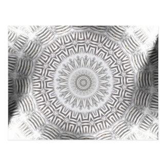 金属の要素のKaleidoパターン ポストカード