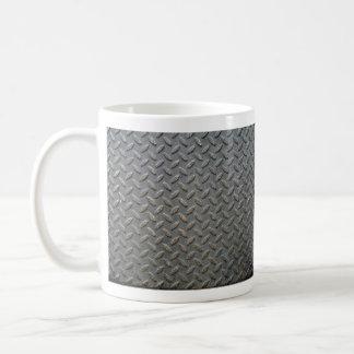金属の踏面の質 コーヒーマグカップ