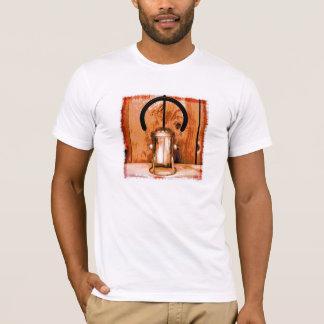 金属の鉄道ランタン Tシャツ
