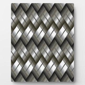 金属の銀製パターン フォトプラーク