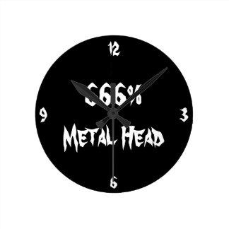 金属の頭部 ラウンド壁時計