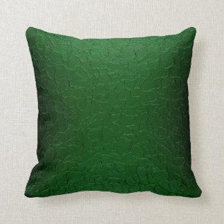 金属のAbstarctの緑の芸術 クッション