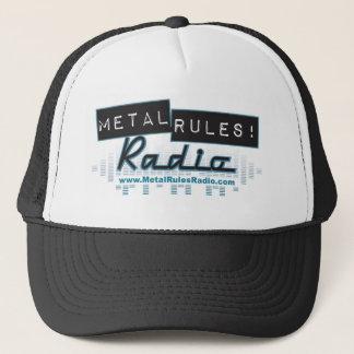 金属は無線のロゴの帽子を支配します キャップ