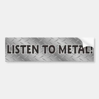 金属をかぶせるために重金属音楽ステッカー聞いて下さい バンパーステッカー