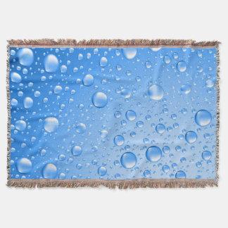 金属スカイブルー雨低下 スローブランケット