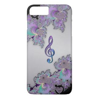 金属フラクタル音楽クレフ、音符記号のiPhone 7のプラスの場合 iPhone 8 Plus/7 Plusケース