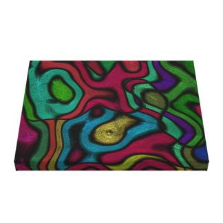 金属ペンキの抽象美術の質の塊 キャンバスプリント