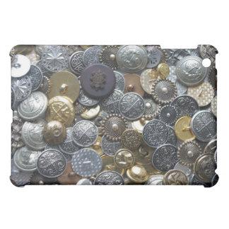 金属ボタン iPad MINIケース