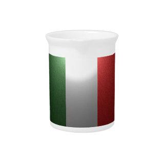 金属効果のイタリアの旗 ピッチャー