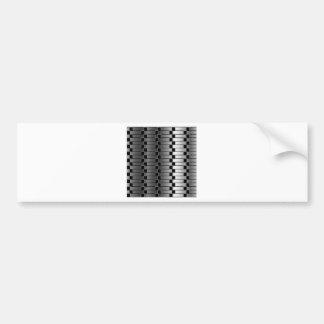 金属勾配に対する目の錯覚 バンパーステッカー