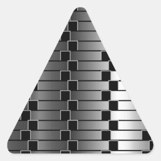 金属勾配に対する目の錯覚 三角形シール