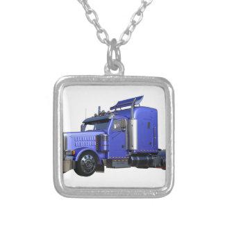 金属半青のトレーラートラックのトラック シルバープレートネックレス