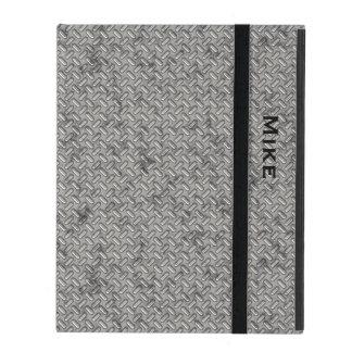 金属押された鋼鉄一見のiPadの場合 iPad ケース