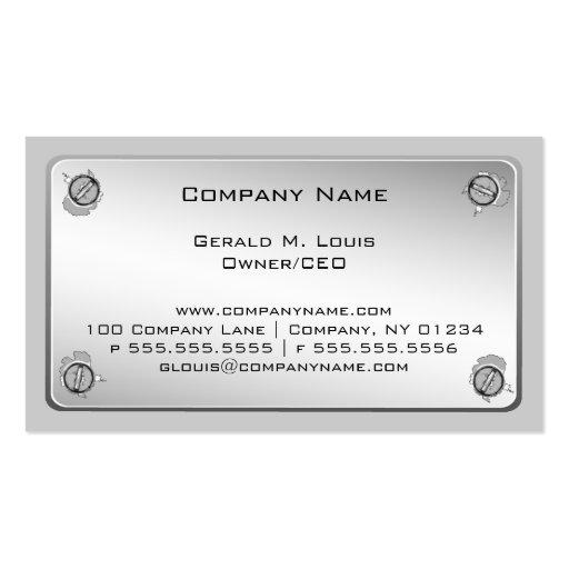 金属板の建設業カード 名刺 ...