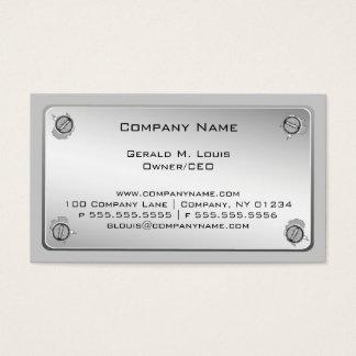 金属板の建設業カード 名刺