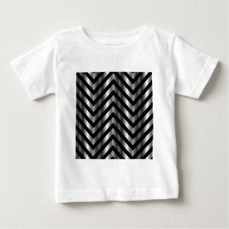 金属棒およびジグザグ形ラインとの目の錯覚 ベビーTシャツ