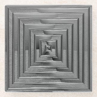 金属正方形 ガラスコースター