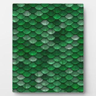 金属深緑色のスケールのプリント フォトプラーク
