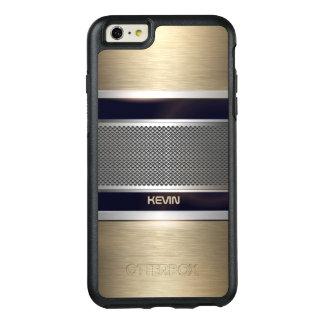 金属灰色および軽い金ゴールドの幾何学的設計 オッターボックスiPhone 6/6S PLUSケース