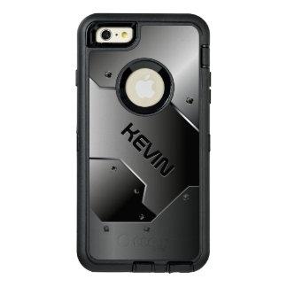 金属灰色の男らしい幾何学的設計 オッターボックスディフェンダーiPhoneケース