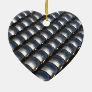 金属球 陶器製ハート型オーナメント