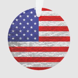 金属米国旗のデザイン オーナメント