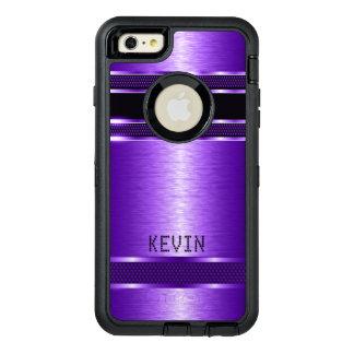 金属紫色の質のモダンな幾何学的設計 オッターボックスディフェンダーiPhoneケース