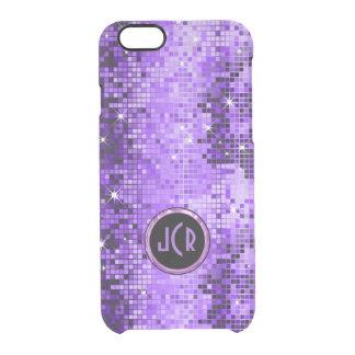 金属紫色順序の一見のディスコの鏡 クリアiPhone 6/6Sケース