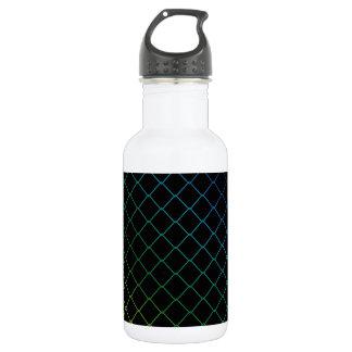 金属線の背景 ウォーターボトル