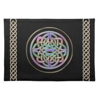 金属虹のケルト結び目模様のデザインのランチョンマット ランチョンマット