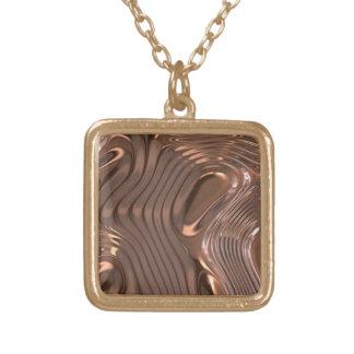 金属質のネックレス ゴールドプレートネックレス