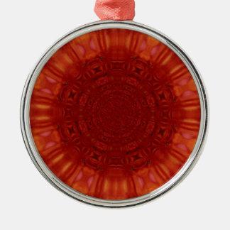 金属赤いルビー色の宝石の芸術 メタルオーナメント
