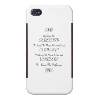 金属金ゴールドのトリムが付いている平静の祈りの言葉の詩 iPhone 4/4S CASE