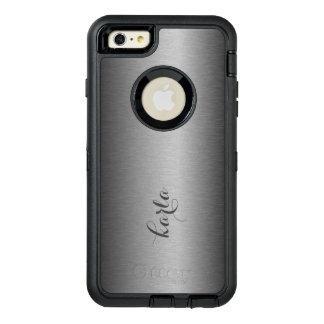 金属銀製灰色の質のプリント オッターボックスディフェンダーiPhoneケース
