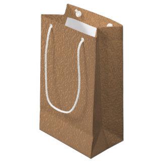金属銅色のギフトバッグ スモールペーパーバッグ