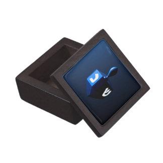 金属青いDreidel ギフトボックス
