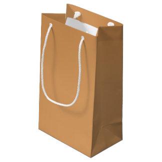 金属青銅色のギフトバッグ スモールペーパーバッグ