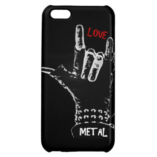 金属|愛 iPhone5Cケース